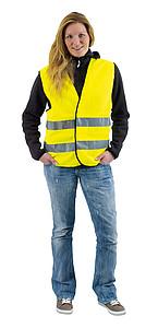 Bezpečnostní vesta pro dospělé, žlutá