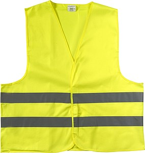 Reflexní vesta, žlutá, velikost M