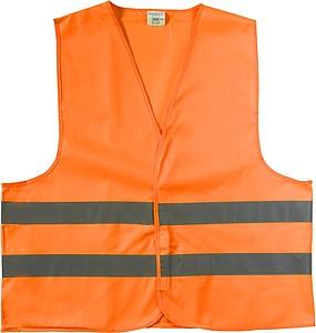 Reflexní vesta, oranžová, velikost M