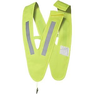 Bezpečnostní vesta ve tvaru V pro děti, fluorescenční žlutá