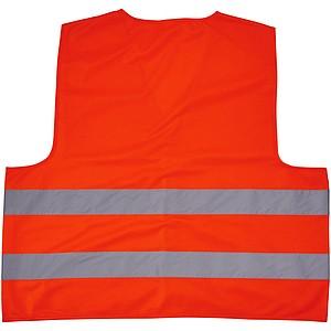 Bezpečnostní vesta pro neprofesionální použití, fluorescenční oranžová