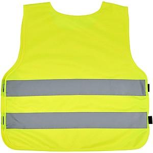 Bezpečnostní vesta pro děti ve věku 3–6 let, fluorescenční žlutá