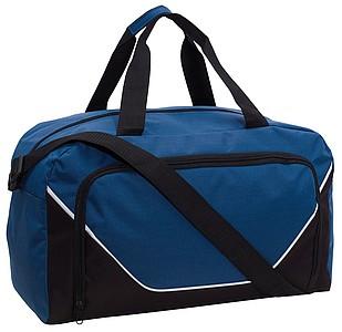 JORDANINO Sportovní taška s přední kapsou na zip, černo modrá
