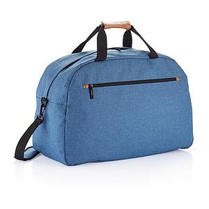 Cestovní taška s přední zipovou kapsou, modrá