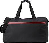 ALPERT Černá sportovní taška s červeným zipem