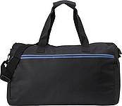 ALPERT Černá sportovní taška s modrým zipem
