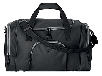 Sportovní taška s otvorem na slluchátka, černá