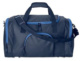 Sportovní taška s otvorem na slluchátka, modrá