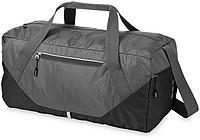 Cestovní taška s přední kapsou na zip zn. Elevate, šedá, černá