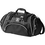 NADJA Cestovní taška, šedá, hnědé doplňky