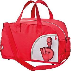 """Sportovní taška """"smile hand"""", červená"""