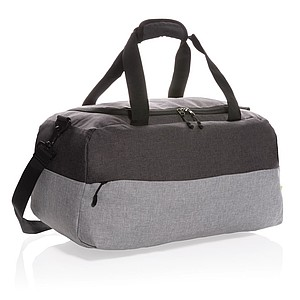 GIONA Duo color RFID víkendová taška z RPET, šedá