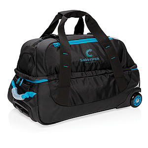 Střední cestovní taška na kolečkách, modrá