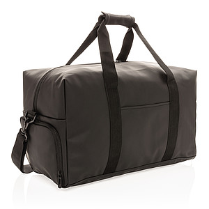 Víkendová taška z hladkého PU, černá