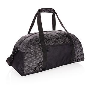 Reflexní víkendová taška z RPET AWARE™, černá