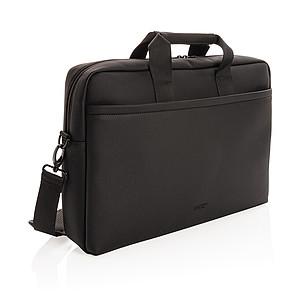 Taška na notebook z veganské kůže Swiss Peak, černá