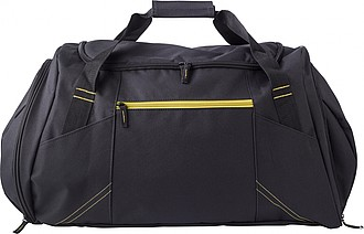 TRIKATA Černá cestovní taška se žlutými detaily