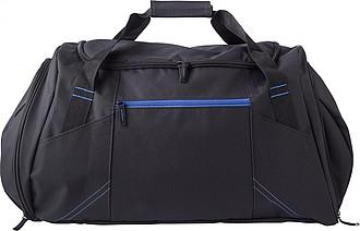 TRIKATA Černá cestovní taška s modrými detaily