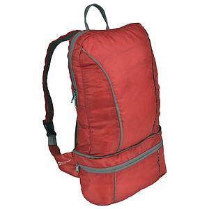 SCHWARZWOLF NUBE 2v1_skládací batoh/ledvinka, červený