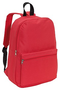 CHAPINO Batoh s dvěma kapsami na zip, červený