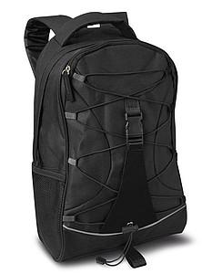 LEMA Černý ruksak s černými doplňky