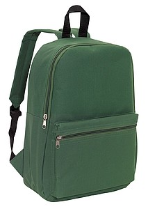 CHAPINO Batoh s dvěma kapsami na zip, tmavě zelený