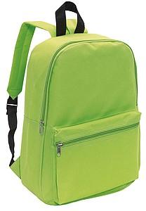 CHAPINO Batoh s dvěma kapsami na zip, jablkově zelený