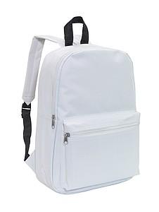 CHAPINO Batoh s dvěma kapsami na zip, bílý