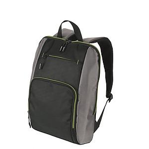 SCHWARZWOLF PIRIN batoh, černý se zelenými detaily papírová taška s potiskem