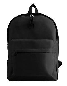 Polyesterový batoh s venkovní kapsou, černá