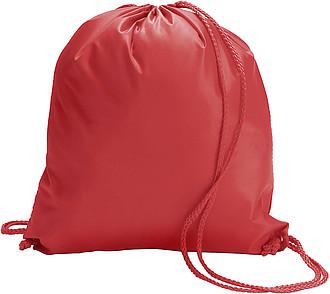 BUDAVAR Ruksak se zdrhovací šňůrkou, polyester, červený