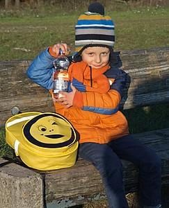 Dětský batoh s reflexními prvky, žlutý