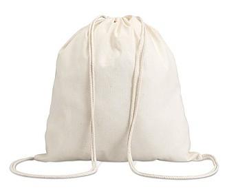 Bavlněný stahovací batůžek, bílá