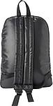 Černý prošívaný batoh s přední kapsou