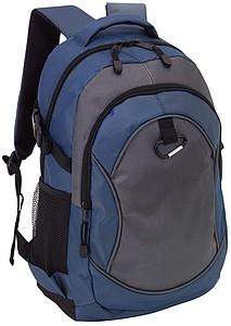 Batoh s karabinou, šedo modrý