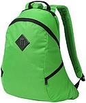 Batoh se vsazenou kapsou, dvě boční kapsy na zip, zelená