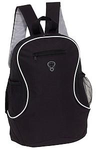 Batoh s malou přední kapsou, černý