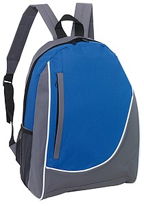 DOGEN Batoh s vertikální přední kapsou, šedo modrý