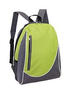 DOGEN Batoh s vertikální přední kapsou, šedo zelený