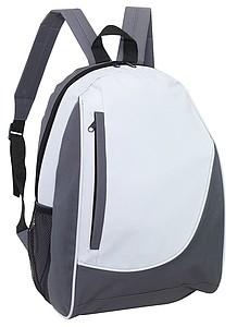 DOGEN Batoh s vertikální přední kapsou, šedo bílý
