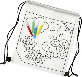TALKON Stahovací batoh z netkané textilie s obrázkem na vymalování - reklamní kancelářské potřeby