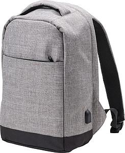 Cestovní batoh se vstupem na USB, antracitový