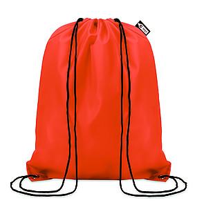 Stahovací batoh vyrobený z recyklovaných PET lahví, oranžový