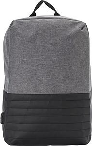 SKIROS Dvoubarevný batoh na notebook s ochranou proti krádeži. Černá/šedá