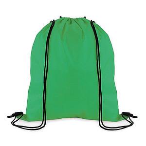 Stahovací batoh z polyesteru, zelený