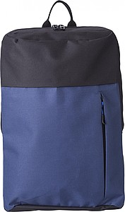 REGATO Batoh s přední kapsou na zip, černo modrý