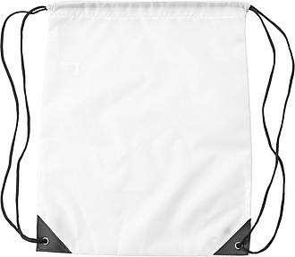 TIBRO Stahovací batoh z RPET, bílý - reklamní kancelářské potřeby
