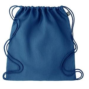 RAMI Stahovací batoh z konopí, modrý - reklamní bundy