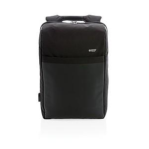 Swiss Peak nedobytný RFID & USB batoh, černá