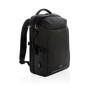 Swiss Peak XXL víkendový RFID & USB batoh, černá